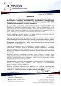 Internetowa platforma ERP dla firmy informatycznej - list referencyjny